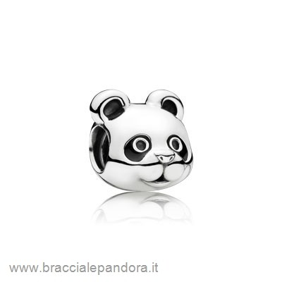 Pandora Animali Charms Panda Pacifica Charm Smalto Nero